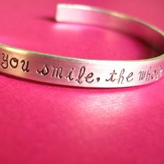 Bruno Mars bracelet! She has the cutest stamped jewelry and she does custom orders. I need one. So cute.