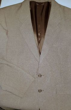 Levi's Menswear Action Dress Jacket 40R Brown Tan 2 Button Lined Tailored Blazer #Levis #TwoButton