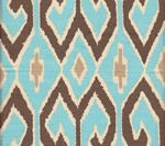 Wall Inspiration!  Aquarias   Turquoise/Brown with  Beige on Cream  7210-04