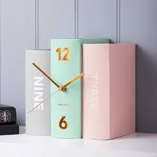 Pastel+Contemporary+Home+Book+Clock+in+Pink+and+Mint 15 Pretty Pastel Home Accessories pastell, Book Clock, Diy Clock, Clock Ideas, Clock Decor, Cute Clock, Clock Wall, Casa Color Pastel, Pastel Colours, Pastels