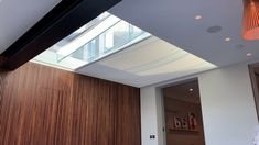 We supplied and fitted this large roof lantern electric blind for our client in London. The electric blind opens and closes over the roof lantern at the touch of a button, providing shade as required. Watch the video to see it in action. Roof Skylight, Electric Blinds, Roof Lantern, Building Contractors, Dining Area, Lanterns, London, Extension Ideas