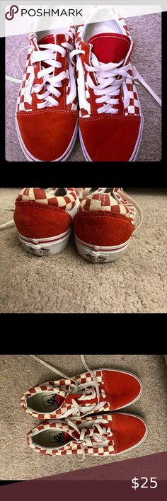 I just added this listing on Poshmark: Red checkered vans. #shopmycloset #poshmark #fashion #shopping #style #forsale #Vans #Shoes Vans Shoes, Shoes Sneakers, Red Checkered Vans, Me Too Shoes, Red And White, Shopping, Things To Sell, Women, Style