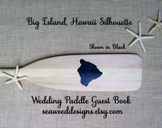 Big Island of Hawaii 58 Raw Personalized Paddle by seaweeddesigns, $82.00