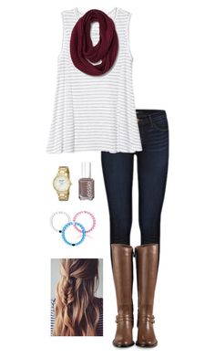 """""""A Fall Day"""" by gabbbsss ❤ liked on Polyvore featuring J Brand, Athleta, Cole Haan, Essie and Kate Spade"""