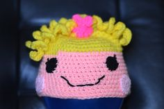 Yellow Haired Lalaloopsy Character Hat Size 3 to 7 Years. $15.00, via Etsy.