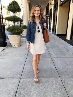 8 Stylish Dresses that You Can Not miss This Fall Season Dressy Casual Outfits, Work Casual, Stylish Dresses, Casual Dresses, Cute Outfits, Work Outfits, Denim Dresses, Denim Skirts, Denim Overalls