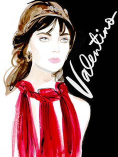 Couture Fashion Week 2015 - Valentino Illustration