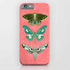 """Lepidoptery No. 5"" iPhone Case by Andrea Lauren Design on Society6."