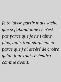 Parce que meme avec tout l'amour du monde ce n'est pas suffisant pour une personne qui ne s'aime pas elle-meme.... Together Quotes, French Quotes, My True Love, Bad Mood, Some Quotes, Some Words, Positive Affirmations, Sentences, Favorite Quotes