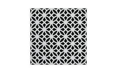 Vicoustic's Mirage pattern with white frame and black fabric.
