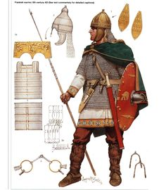 A Frankish warrior of the Migration Period (Dark Ages).