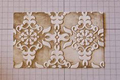 Faux Patina Tutorial - Splitcoaststampers Video 9:42 mins  Create a faux patina look with an embossing folder and ink.