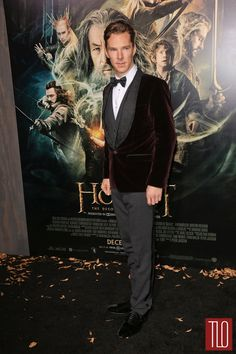 """Benedict Cumberbatch attends the premiere of """"The Hobbit: The Desolation of Smaug"""" in Los Angeles, California."""