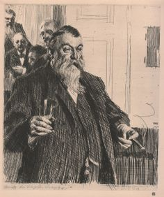 Anders Zorn etching. Love the line quality/simple drawing that says everything