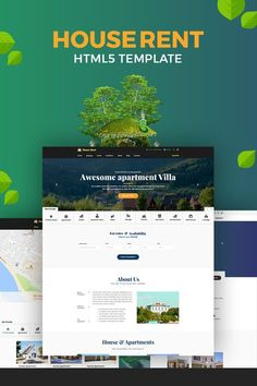 HouseRent - Multi Concept House And Apartment Rent HTML Website Template Big Screenshot