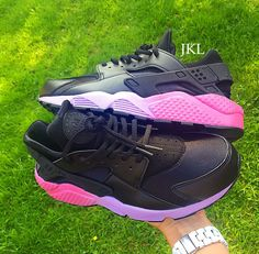 Nike Huarache Lilac fade.The base shoe is a Black Nike Huarache which is  then 9eb5985b4a