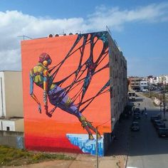New Street Art with close up by DEIH