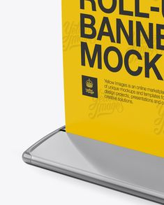 Roll-up Banner Mockup – Halfside View Close-Up