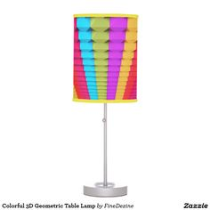 Colorful 3D Geometric Table Lamp
