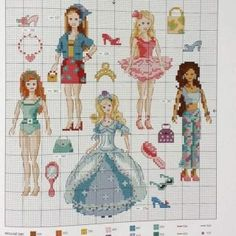 "ru / - Альбом ""Les plus belles collections au point de croix"" Cross Stitch, Kids Rugs, Gallery, Collections, Egypt, Disney, Model, Crossstitch, Teen"