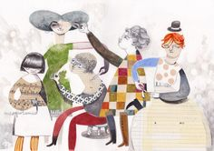 pencil watercolor and collage, love felicita sala's work!