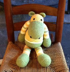 Zeke the Hippo by bonny's beasts on Etsy: Stuffed Animal/Amigurumi/Stuffed toy/Baby Gift/Children's toy/Hippopotamus