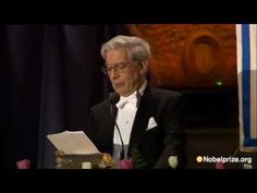 This is Mario Vargas Llosa's speech after he won the nobel prize!  I think its very cool to be able to hear it