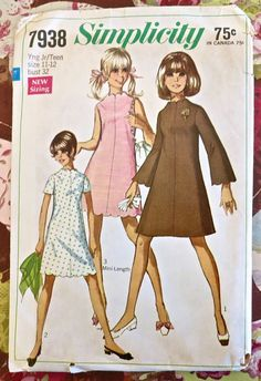 Simplicity 7938  Vintage 1960s Teen Scallop Dress by Fragolina