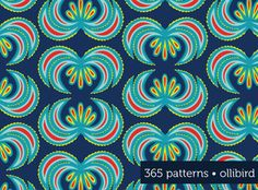 365 Patterns: Rooster Tails by Alma Loveland for Ollibird