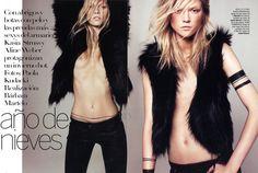 Kasia Struss & Aline Weber for Vogue Spain November 2010 by Paola Kudacki