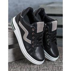 Shelovet Buty Sportowe Z Ukryta Koturna Czarne Vans Sneaker Puma Sneaker Sneakers
