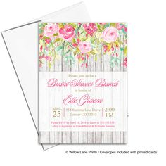Country Baby Shower Invitations