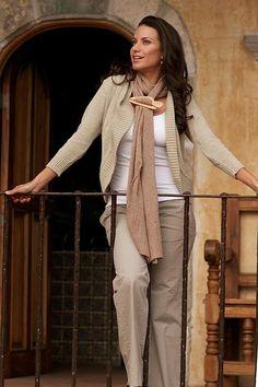 Women's Natural Cotton Cardigan Sweater - Maya Beige   NOVICA