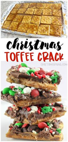 Christmas crack recipe using saltine crackers to make a toffee treat. There's a reason for the name...no one can stop eating it!!! Easy christmas dessert treat idea. xmas treats