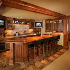 Game Room Bar Ideas Setting Up A Home Bar With Floor Tiles | Cantina |  Pinterest