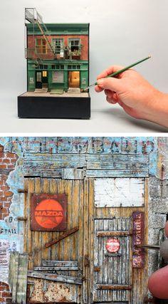 50 Diff. Pcs #B Mini Patterns 1//12th Scale Miniature Gift Wrap Paper