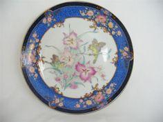 Beautiful Vintage Oriental Porcelain Display Plate - Orchid & Sparrows   eBay