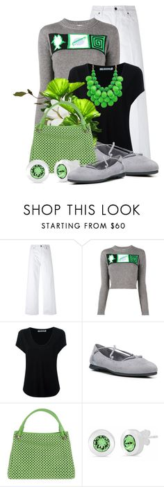 """""""Spring/Summer Sweater! *Outfit Only* (3)"""" by queenrachietemplateaddict ❤ liked on Polyvore featuring Vince, Miu Miu, Alexander Wang, Dr. Scholl's and Plinio VisonÃ"""