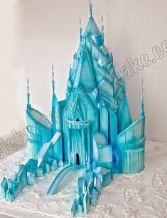 Celebrate with Cake! Frozen Castle Cake, Elsa Castle, Frozen Cake, Castle Cakes, Carousel Birthday Parties, Frozen Themed Birthday Party, Elsa Birthday, Arendelle Frozen, Disney Frozen Party