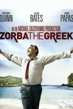 1964 film: On the Greek isle of Crete, Basil (Alan Bates), a shy inhibited writer from England is befriended by Zorba (Anthony Quinn) a boisterous peasant with an astonishing love for life. When Zorba agrees to work at Basil's abandoned mine, it is the beginning of a lesson for the young man as he gradually moves from an observer of the world to a participant. This acclaimed classic co-stars Irene Paps and Lila Kedrova in an Oscar winning performance.