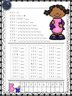 Hojas para repasar las tablas de multiplicar - Imagenes Educativas Math School, Math Class, School Days, Preschool Math, Teaching Math, School Resources, Teaching Resources, Math For Kids, Activities For Kids