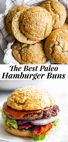 Gluten Free Hamburger Buns, Healthy Hamburger, Gluten Free Buns, Hamburger Bun Recipe No Yeast, Paleo Bread, Paleo Baking, Paleo Diet, Paleo Food, Eating Paleo