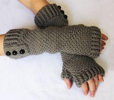 CROCHET PATTERN: Fingerless Gloves via Etsy.