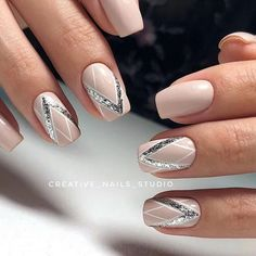 manis that will make you adore squoval nails 37 ~ my.me - manis that will make you adore squoval nails 37 ~ my. Nagellack Design, Nagellack Trends, Bridal Nails, Wedding Nails, Cute Acrylic Nails, Cute Nails, Pink Nails, My Nails, Art Deco Nails
