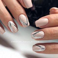manis that will make you adore squoval nails 37 ~ my.me - manis that will make you adore squoval nails 37 ~ my. Cute Acrylic Nails, Cute Nails, Pink Nails, My Nails, Art Deco Nails, Nagellack Design, Pretty Nail Art, Bridal Nails, Wedding Nails
