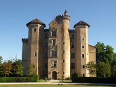 French Chateau for sale in 40 - Landes , Aquitaine France. An imposing Château dating from the XIV Century, with towers in pink brick and stone flanking a Renaissance façade, listed as a 'Monument Historique' and completely restored to the highest standard in 1980, set in the centre of an extensive estate. Splendid period features include grand fireplaces and paneling, vaulted ceilings, etc. Lift. Central heating. Gardens surround the Château with a swimming pool. Outbuildings include ...