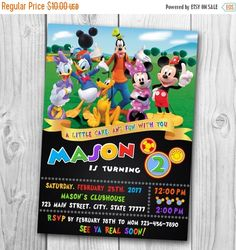 Mickey Mouse Clubhouse Invitation, Mickey Mouse Birthday, Mickey Mouse  Clubhouse Party, Mickey Mouse, Clubhouse Birthday, Miu2026 | Mickey Mouse Club  House ...