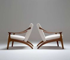 Pair of Arne Hovmand-Olsen Easy Chairs 6