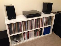 Vinyl Record Storage (2x4-Tier)  Key features - Choose whether you want to place it vertically or horizontally to use it as a shelf or sideboard -