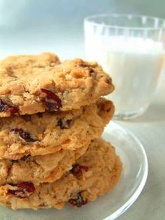 Chunky Oatmeal Cookies--use stevia or agave in place of sugar; use white wheat flour in place of all-purpose flour